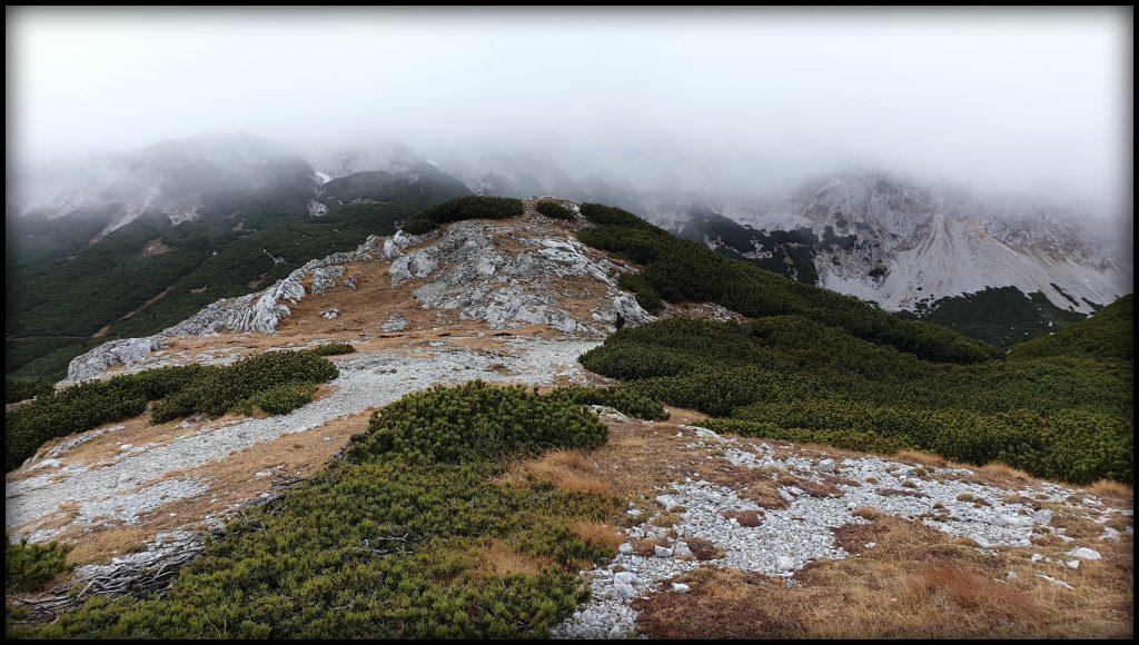 Pohled z vrcholu směrem k Seehütte